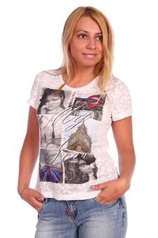 Белая футболка Лондон ElenaTex со скидкой
