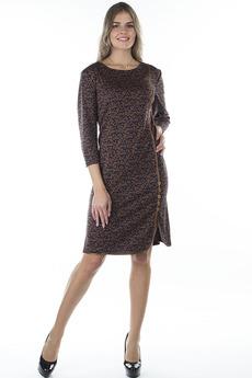 Коричневое повседневное платье Bast